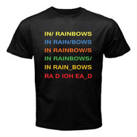 mens designer t shirts shirt RADIOHEAD In Rainbows Rock Band...