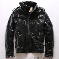High grade AVIREXFLY leather down jackets sports down coats ...