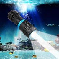 أدى 100M الغوص L2 الغوص تحت الماء XM فانوس worklight امب torche الشعلة للماء 26650 أو 18650