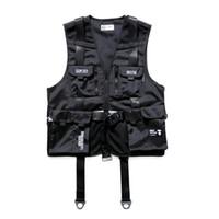 logo populaire présente des combinaisons militaires avec maille filet gilet et hanche lâche veste cardigan sans manches