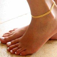 Frauen einfach Punk Gold Silber Boho Frauen Barefoot Pfeil Knöchel Kette Fußkettchen Armband Fuß Schmuck Sandale Strand