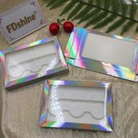 Ресницы Box 3 пар Lashes упаковки с лотком на заказ Logo Accept ресниц Случаи Горячие FDshine Продажа