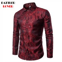 2018 Shirt Men Autumn Camisa Masculina Slim Fit Shirt Men Ca...