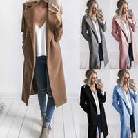 Invierno abrigos y chaquetas para mujer 2019 más el tamaño de la capa larga de lana caliente coreana elegante capa de la vendimia femeninos del cabo del capote chaquetas de color caqui