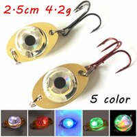1pc 5 Color 2. 5cm 4. 2g LED Attracting Fish Lamp Spoons Metal...
