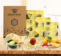 FDA الغذاء النحل التفاف التشبث فيلم قابلة لإعادة التدوير النحل الشمع المطبخ الحفاظ القماش شمعية قابلة لإعادة الاستخدام الغذاء الغذاء الفاكهة الغطاء الطازجة حقيبة غطاء غطاء