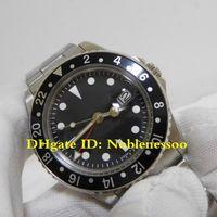 3 cores dos homens relógios vintage 70's Black Bezel 40mm Edition R-GMT Ref.1675 BP Fábrica 2813 Movimento Mecânica Homens Relógio Automático