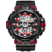 2020 pulsera LED waches digitales de lujo del reloj de los hombres relojes de alarma Militar del relogio montre1532B relojes de los hombres impermeable del deporte