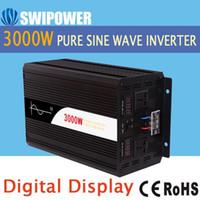 Freeshipping 3000W inverter a energia solare sinusoidale pura DC 12V 24V 48V a AC 110V 220V display digitale