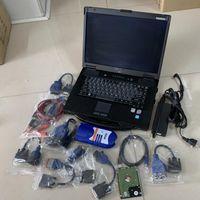 Caminhão diagnóstico nexiq 125032 usb link caminhão ferramenta de varredura cabos com laptop cf52 toughbook 2 anos de garantia dhl livre