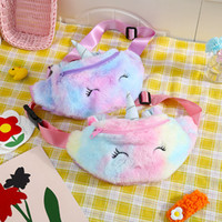 Unicorn Plüsch Taille Tasche Niedliche Cartoon Kinder Fanny Pack Mädchen Gürtel Tasche Mode Reisen Telefon Beutel Brusttasche Aufbewahrungstaschen KKC4137