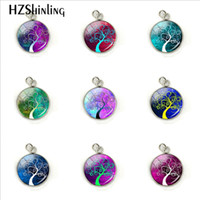 2019 Beauty Colorful Tree of Life Style Glass Cabochon Stain...