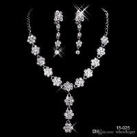 Pas cher bijoux de mariée de Charme en alliage chromé strass Perles en cristal Ensemble de bijoux pour mariage mariée demoiselle d'honneur Livraison gratuite en 15025