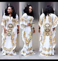 Tilápia New Casual Solto Mulheres Vestido de Verão Em Linha Reta Projeto Royal Africano Estilo Dashiki Elastic Big Dress MX190727