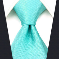 C34 Aqua Solid Silk Mens Necktie Tie Classic Brand New extra long size Ties for male Fashion Wedding Acceossories