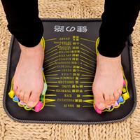 1 Pz Agopuntura Piede Ciottolo Riflessologia Pad Massaggio Camminare Pietra Piazza Piede Massaggiatore Cuscino per Rilassarsi Dolore Del Corpo Sanità C18122801