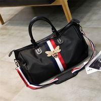 Sacs de voyage imperméable grande capacité bagages de la main voyager bee sac mode femme week-end voyage sac de sport sac à main