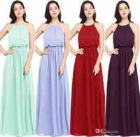 Babyonlinedress In Stock Chiffon Long Evening Dresses 2020 Under $50 Halter Neck Evening Prom Dresses Special Occasion Dresses CPS618
