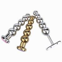 Aluminiumlegierung Analstecker Vagina G-Fleck Prostata Massage Metall Butt Plug Dilatator Heavy Anus Perlen mit 5 Bällen Sex Spielzeug für Männer und Frauen