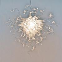 Niedrige Kosten klarer Pendelleuchten Kronleuchter Moderne Pendellicht Luxus Kristall Hand Geblasenes Glas Kronleuchter mit LED-Birnen