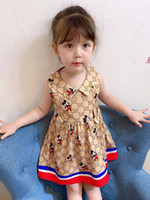 2020 new kids dress sleeveless cute summer children girls ou...