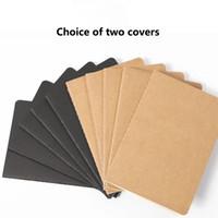 A5 Kraft Línea de papel Libro en blanco Libro pintado a mano Retro Sketch Book Kraft Papel Agenda Cuaderno Cuaderno Escuela Securma Suministros de oficina Suministros de oficina 40 Inn