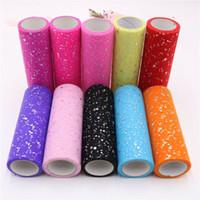 Home 15cm 10Yard Glitter Tüll Roll Crystal Organza Sheer Gaze Tischläufer NEU Tischläufer