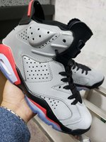 2019 New 6 silver gray VI Bred men basketball shoes sports 6...