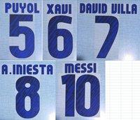 2010-2011 прочь Хави Месси A.Iniesta Давид Вилья Пуйоль nameset патч значок