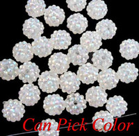 gh45g 10mm*12 mm ball pave mixed wholesale Resin crystal Bea...