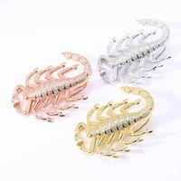 Unisex Fashion Scorpion Halsketten-Anhänger Bling Iced Out Hip Hop Schmuck Halsketten-Charme-Strickjacke-Kette mit 60cm Twist Ketten