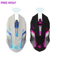 Rechargeable X7 Wireless Gamer mouse 7 Colors LED Backlight ...