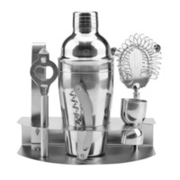7 unids Acero Inoxidable Coctelera Mezclador Wine Martini Boston Shaker Para Bartender Bebida Party Bar Herramientas 550ml / 750ml