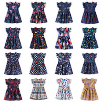 Girl Princess Dress 2019 Summer Flying sleeve Kids Flowers D...