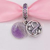 Authentique 925 Perles d'argent Sterling Eternity Maman Dangle Charm Charms Convient aux bracelets de bijoux de style Pandora européen 798829C01