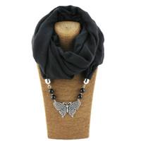 Новинка женская мода ожерелья из сплава подвеска шарф дамы модные подвески бабочка ювелирные изделия аксессуары шарфы
