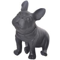 الفرنسية البلدغ تمثال يجلس الكلب الحيوان تماثيل الفن النحت الراتنج الحرف ديكور المنزل اكسسوارات للحصول على غرفة المعيشة R521