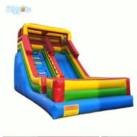 Jardim EN14960 Certificada Comercial Grau Comercial 0.55mm PVC Partido Playhouse Água Inflável Slide Bounce Casa para crianças