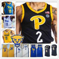 PITT Pittsburgh Panthers # 13 Steven Adams 4 Jared Wilson-Rahmen Gerald Drumgoole Jr. 12 Abdoul Karim Coulibaly Blau Weiß Basketball Jersey