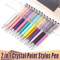 Cellulari Schermo Mutlti-Function tocco della penna di lusso 2 in 1 Touch Diamond Crystal Point Strass capacitiva dello stilo penna a sfera per cellulari