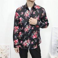 Мужские повседневные дизайнеры рубашки с длинным рукавом платья рубашки для мужчин Slim Fit Рубашки моды вскользь Harajuku Mens Medusa роскошная рубашка