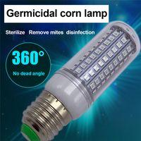 E27 E14 UV 소독 전구 220V 110V 112LEDs 10W 옥수수 램프 홈 창고 슈퍼마켓 자외선에 대한 UVC 살균 램프