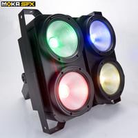 2pcs / lot 4 * 100W RGB LED lumières public blinder réglables colorés lumineux Blinder Dmx 3/7 / 16CH lumière par étape en effet de la lumière