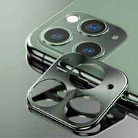 Tampa da caixa da lente da câmera traseira do metal para o iphone 11 pro protetor do caso do círculo da guarda da câmera para o iphone 11 Proteção do pára-choques do anel pro máxima