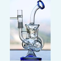Joint Size 14. 4mm Double Recycle Glass Bongs With Bowl Dab R...