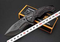 Browning B061 Folding faca 440C Lâmina Todo o aço estampado Handle Titanium Tactical Canivete Camping ferramenta rápida aberta faca de caça Surviva