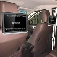 10,2 pouces lecteur DVD de support d'affichage moniteur voiture headreset avec système Android 6.0 pour appui-tête automatique