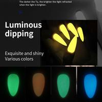 10 g de neón Fósforo inmersión en polvo luminoso de uñas de arte pintura fluorescente del brillo resplandor Pigmento polvo polaco ULTRAVIOLETA del gel Diseño I047