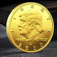 الرئيس 45 الولايات المتحدة الأمريكية دونالد ترامب كوين 2020 التذكارية عملة بالذهب النادرة عملة الحرف فن تذكارية الجديد