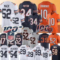 Chicago Bears 52 Jersey Khalil Mack 34 Walter Payton 10 Jersey Mitchell Trubisky 89 Mike Ditka 58 Roquan Smith 29 Camisetas de Tarik Cohen